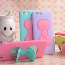 Iphone 6 Case and Stand, Cute Bowknot Cover
