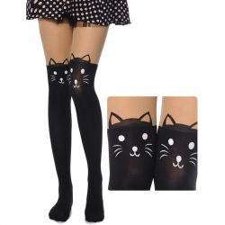 cute cat kawaii stockings pantyhose tights