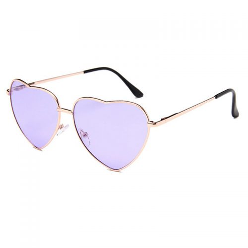 Heart Shaped Sunglasses purple