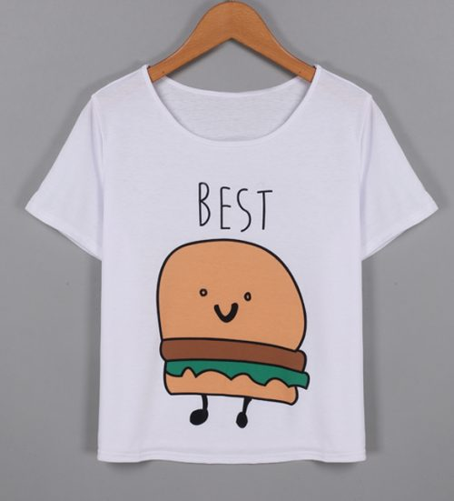 Best friends French Fries and Burger T-shirt