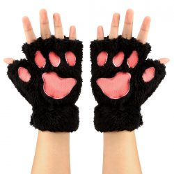 Animal Paws Fingerless Gloves