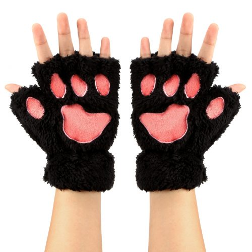 Animal Paws Fingerless Gloves