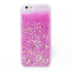 Glitter Stars Liquid Iphone Case 6/6s pink