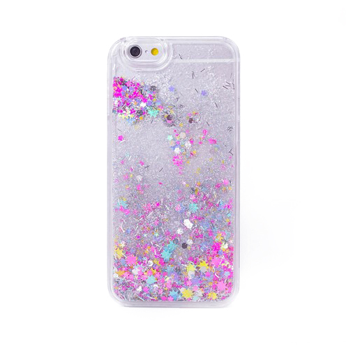 Glitter Stars Liquid Iphone Case 6/6s rainbow