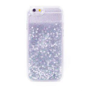 Glitter Stars Liquid Iphone Case 6/6s silver