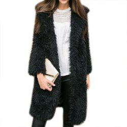 Furry Coat Black