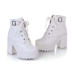Platform Boots White