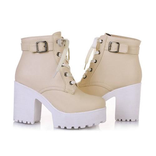 Platform Boots Beige - SugarSweet.me