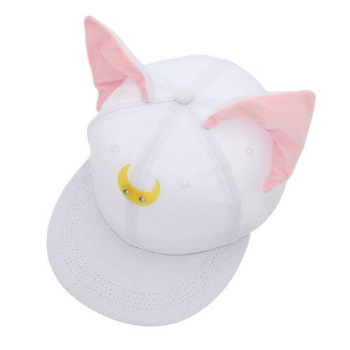 Sailor Moon Luna Hat White
