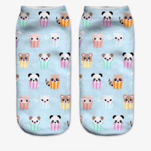 Animal Cupcake Socks