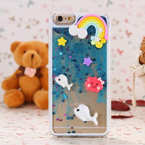 Kawaii 3D Iphone Case blue
