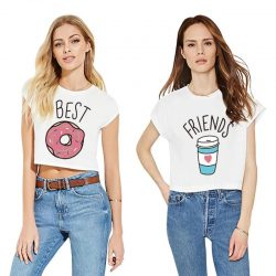 Best Friends Donut and Coffee T-Shirt