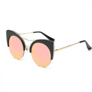 Cat eye sunglasses pink lenses