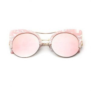 cat eye marble sunglasses
