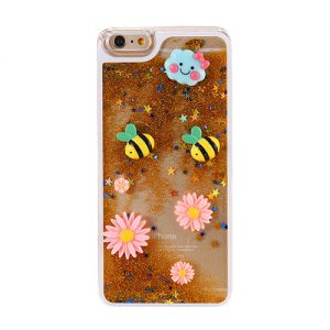 Kawaii 3D Iphone Case 6 and 6s Gold Glitter