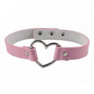 Pink Choker Heart