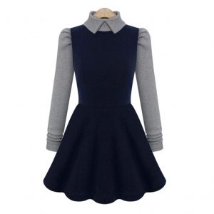 Winter Knitted Long Sleeve Dress