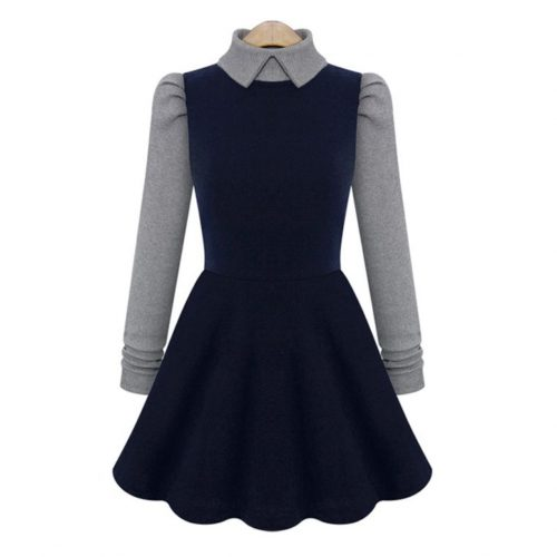 Winter Knitted Long Sleeve Dress