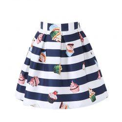 striped cupcake skirt