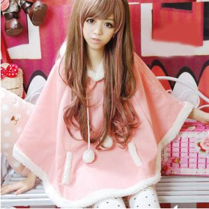 Pink Cape Poncho