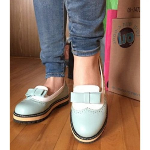 Doll Style Round Flats Blue
