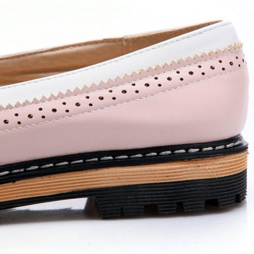 Doll Style Round Flats pink