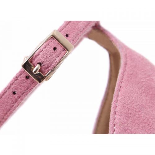 Pink Fluffy Strap Heels