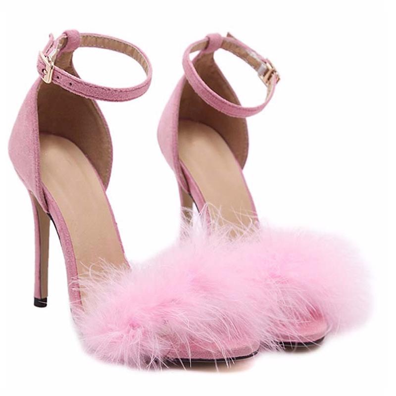 Pink Fluffy Strap Heels Sugarsweet Me