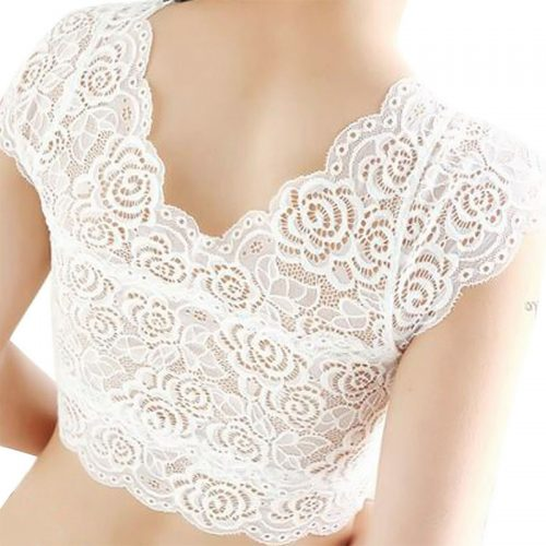 Lace Crop Top white