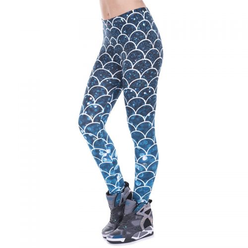 Mermaid Glitter Leggings Blue