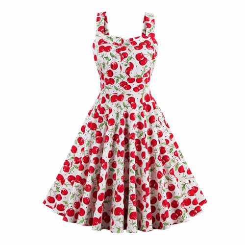 Retro Style Cherry Dress