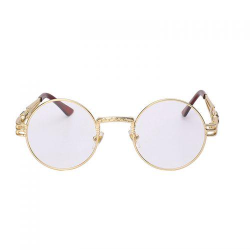 Harajuku nerdy Sunglasses Clear lens gold frame