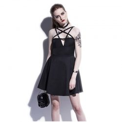 Pentagram Goth Mini Dress