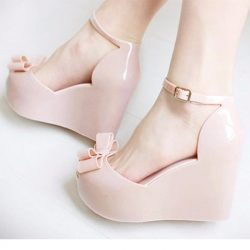 Jelly Plastic Wedges Peep Toe