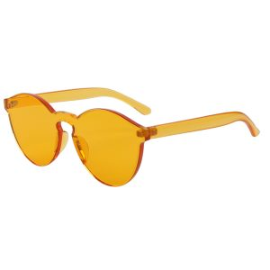One Piece Lens Sunglasses Yellow