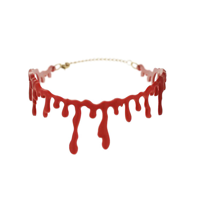 Blood Drip Choker Necklace Sugarsweet Me