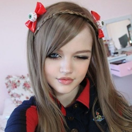 Eyeball Red Bow Hair Accessory
