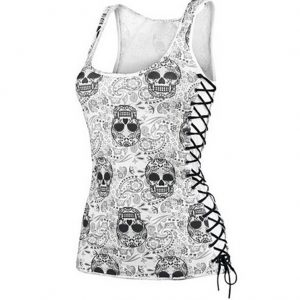 Skull Criss Cross Side Top