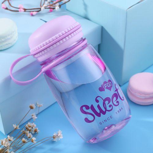 macaron water bottle purple