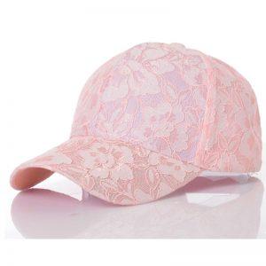 Pink Lace Baseball Cap