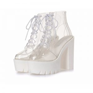 Transparent Ankle Boots