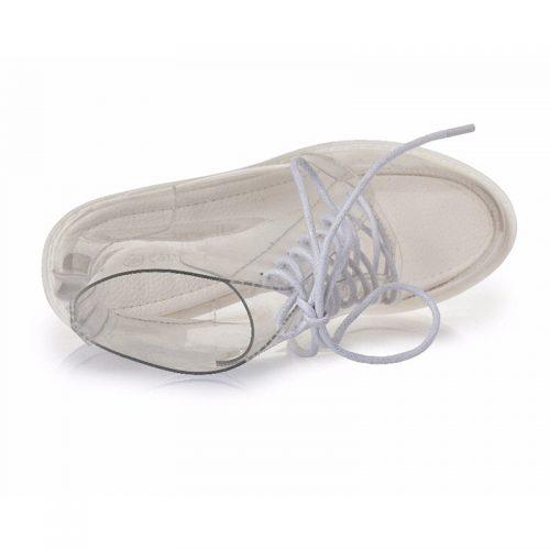 Women Transparent Ankle Boots Platforms