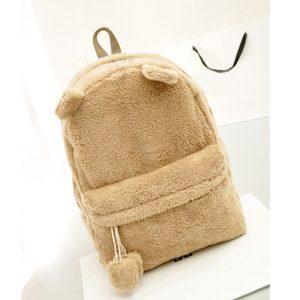 bear backpack brown fleece
