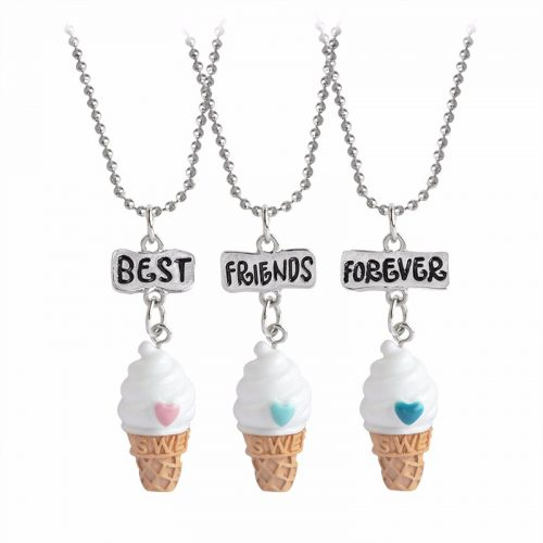 Best Friends Forever Ice Cream Necklace
