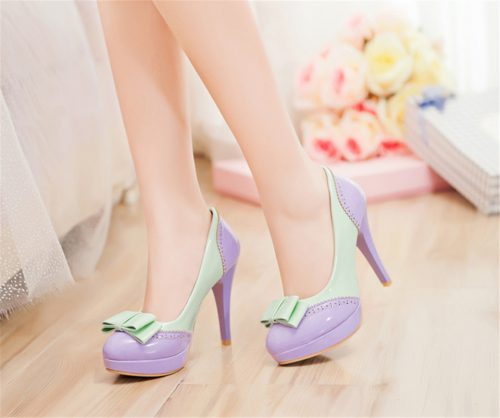 Bowtie Lolita Heels Shoes