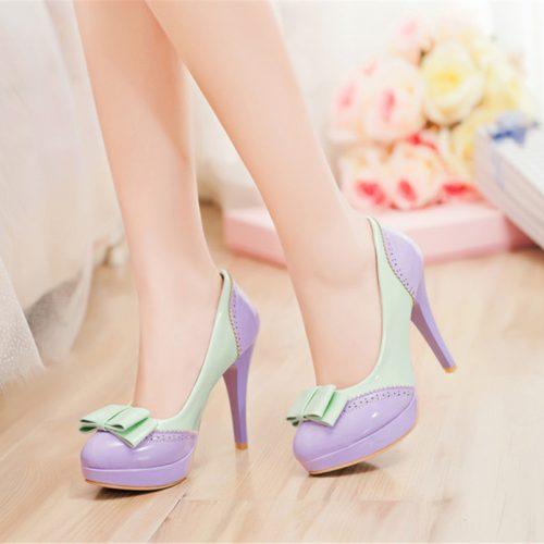 Bowtie Lolita Heels Shoes