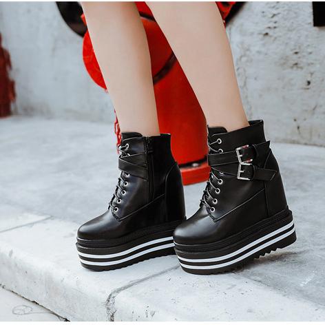 harajuku platforms ankle boots