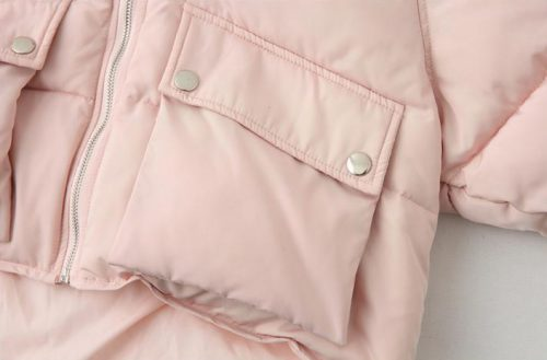 winter jacket pink