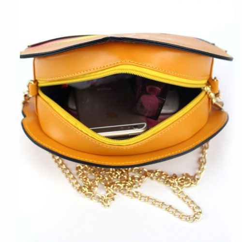 spacious Hamburger Crossbody Bag