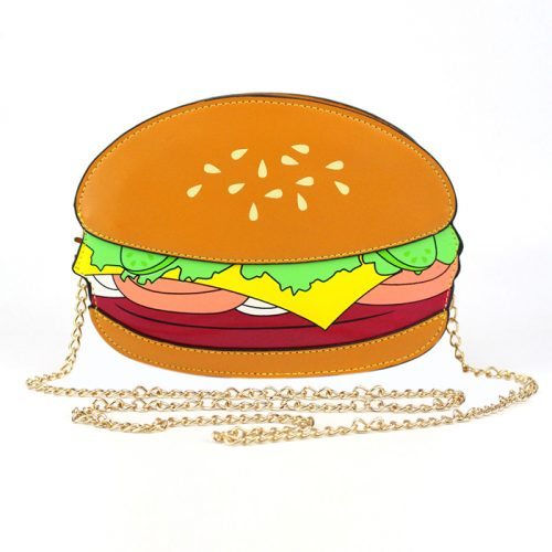 cute Hamburger Crossbody Bag